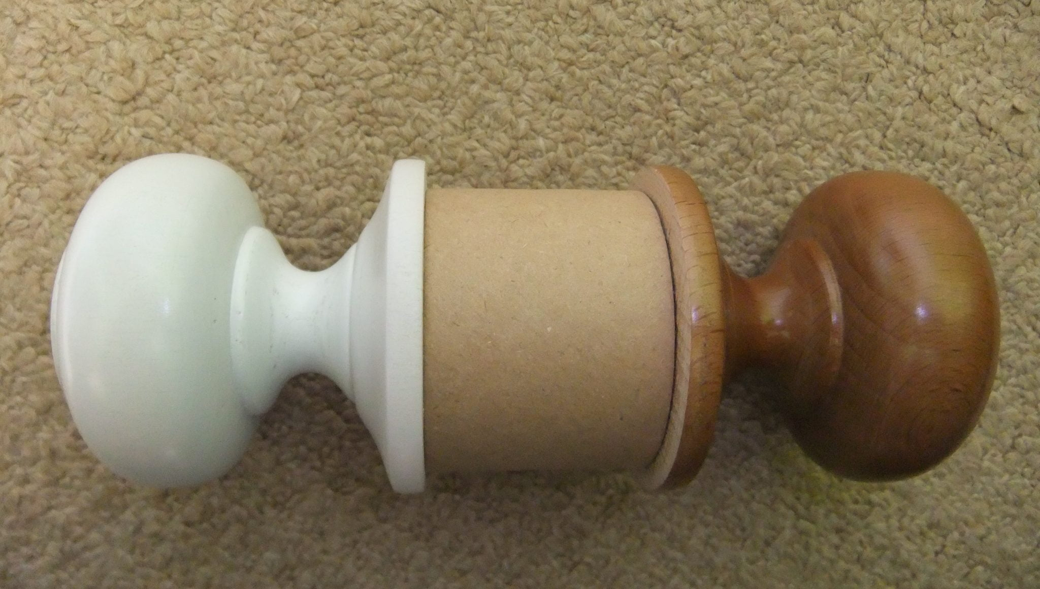 Gallery page wooden door knobs White and Walnut Dunsinane set