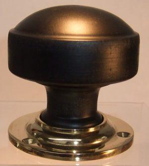 Ebony wooden door knob handle
