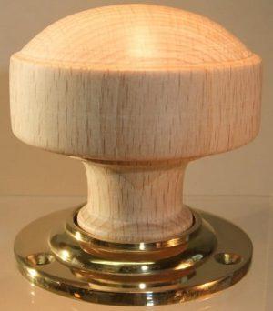 Sanded wooden door knob handle