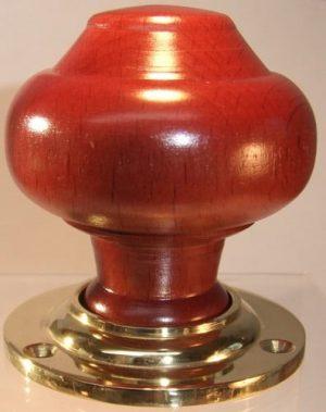 Mahogany wooden door knobs handles