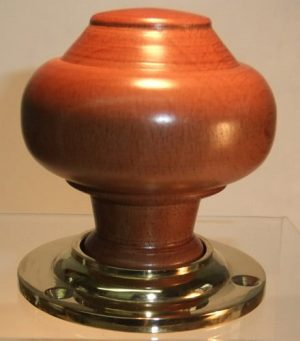 Medium oak wooden door knob handle