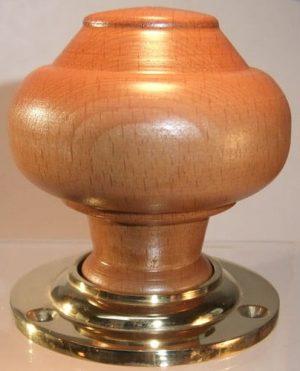 Walnut wooden door knob handle