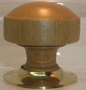 Light oak wooden door knob handle