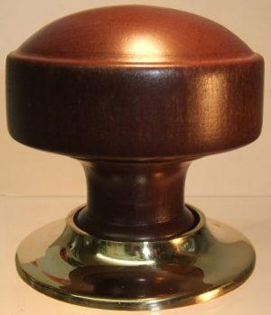 Dark oak wooden door knob handle