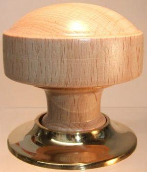 Natural wooden door knob handle