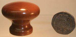 Walnut wooden cupboard knob