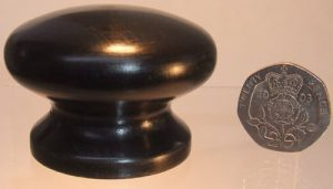 Ebony wooden cupboard knob