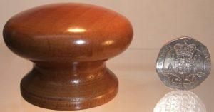 Medium oak wooden cupboard knob