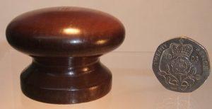 Dark oak wooden cupboard knob