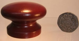 Mahogany wooden cupboard knob