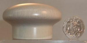 Cream wooden cupboard knob