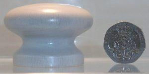 White wooden cupboard knob