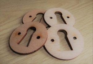 wooden keyhole surrounds