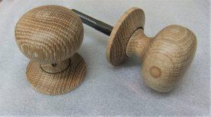 Hand made oak door knob