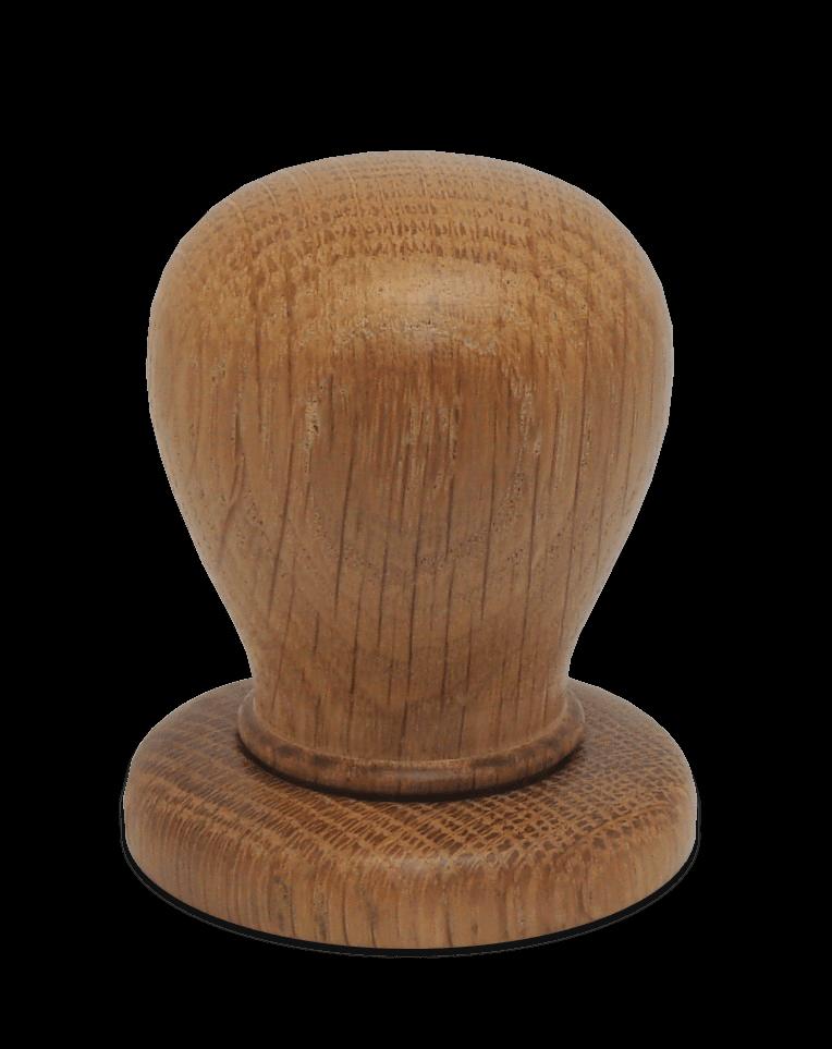 Handmade oak door knob with rose