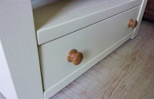 Hand made oak cabinet knobs