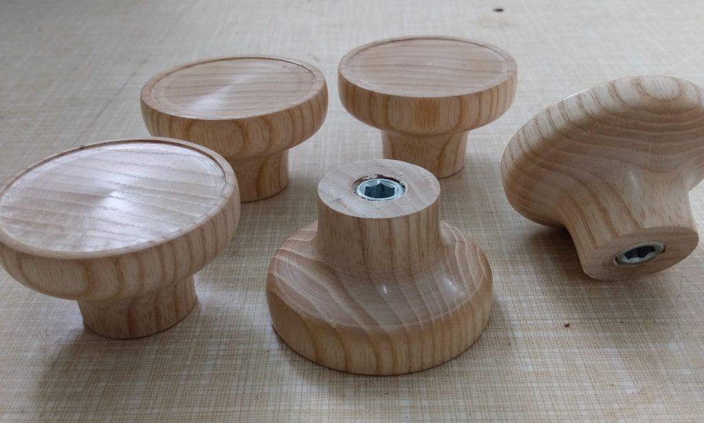 Handmade ash cupboard knobs